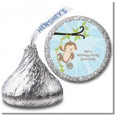 Monkey Boy - Hershey Kiss Baby Shower Sticker Labels