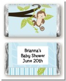 Monkey Boy - Personalized Baby Shower Mini Candy Bar Wrappers