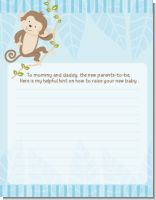 Monkey Boy - Baby Shower Notes of Advice