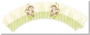 Twin Monkey - Baby Shower Cupcake Wrappers