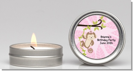 Monkey Girl - Birthday Party Candle Favors