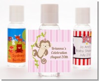 Monkey Girl - Personalized Baby Shower Hand Sanitizers Favors