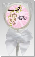 Monkey Girl - Personalized Baby Shower Lollipop Favors