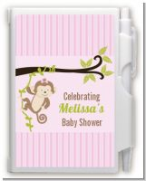 Monkey Girl - Baby Shower Personalized Notebook Favor
