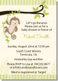 Monkey Neutral - Baby Shower Invitations
