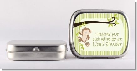 Monkey Neutral - Personalized Baby Shower Mint Tins