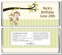 Monkey Neutral - Personalized Birthday Party Candy Bar Wrappers