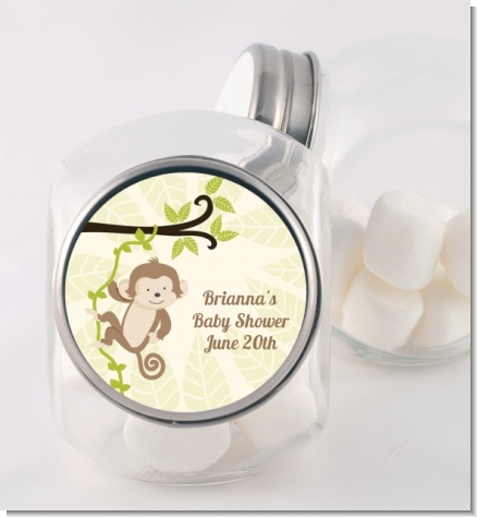 Monkey Neutral - Personalized Birthday Party Candy Jar