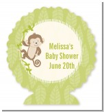 Monkey Neutral - Personalized Baby Shower Centerpiece Stand