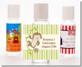 Monkey Neutral - Personalized Baby Shower Hand Sanitizers Favors