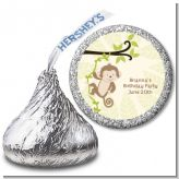 Monkey Neutral - Hershey Kiss Birthday Party Sticker Labels