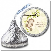 Monkey Neutral - Hershey Kiss Baby Shower Sticker Labels