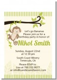 Monkey Neutral - Baby Shower Petite Invitations