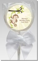 Monkey Neutral - Personalized Baby Shower Lollipop Favors