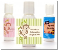 Monkey Neutral - Personalized Baby Shower Lotion Favors