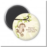 Monkey Neutral - Personalized Birthday Party Magnet Favors