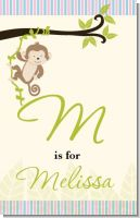 Monkey Neutral - Personalized Baby Shower Nursery Wall Art