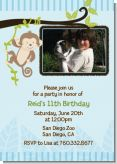 Monkey Boy - Photo Birthday Party Invitations