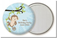 Monkey Boy - Personalized Birthday Party Pocket Mirror Favors