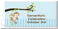 Monkey Boy - Personalized Baby Shower Place Cards