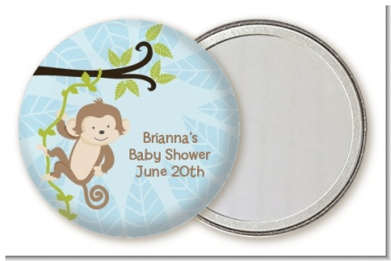 Monkey Boy - Personalized Baby Shower Pocket Mirror Favors