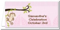 Monkey Girl - Personalized Baby Shower Place Cards