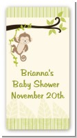 Monkey Neutral - Custom Rectangle Baby Shower Sticker/Labels