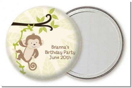 Monkey Neutral - Personalized Birthday Party Pocket Mirror Favors
