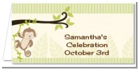 Monkey Neutral - Personalized Baby Shower Place Cards