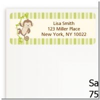 Monkey Neutral - Baby Shower Return Address Labels