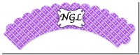 Modern Thatch Purple - Personalized Everyday Party Cupcake Wrappers