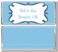 Modern Thatch Blue - Personalized Everyday Party Candy Bar Wrappers thumbnail