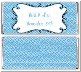 Modern Thatch Blue - Personalized Everyday Party Candy Bar Wrappers
