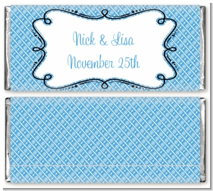 Custom Modern Thatch Blue Everyday Collection Blue candy bar wrappers