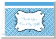 Modern Thatch Blue - Personalized Everyday Party Thank You Cards thumbnail