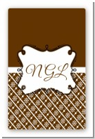 Modern Thatch Brown - Personalized Everyday Party Large Rectangle Sticker/Labels