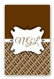 Modern Thatch Brown - Personalized Everyday Party Large Rectangle Sticker/Labels thumbnail