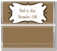 Modern Thatch Brown - Personalized Everyday Party Candy Bar Wrappers thumbnail
