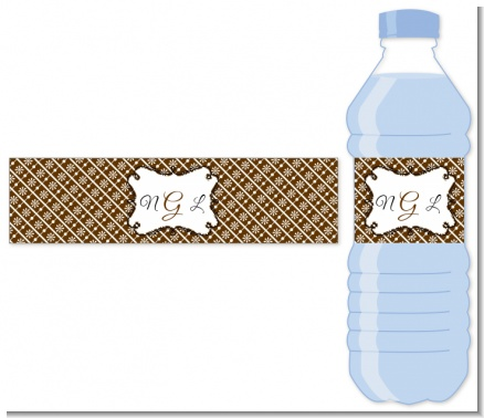 Modern Thatch Brown - Personalized Everyday Party Water Bottle Labels