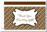 Modern Thatch Brown - Personalized Everyday Party Thank You Cards