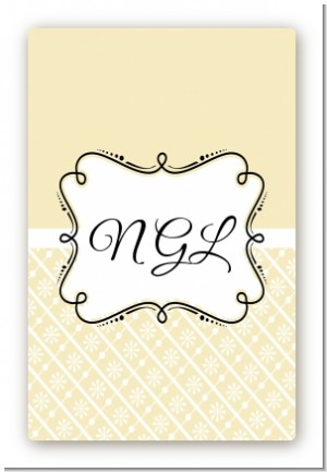 Modern Thatch Cream - Personalized Everyday Party Large Rectangle Sticker/Labels