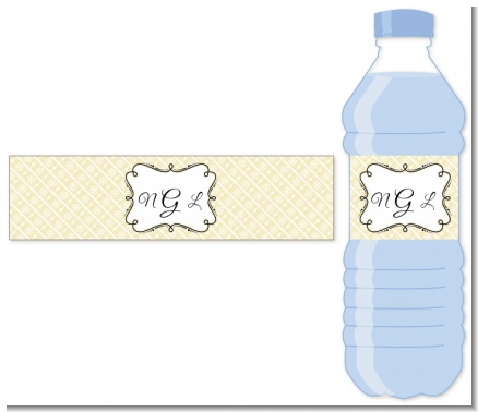 Modern Thatch Cream - Personalized Everyday Party Water Bottle Labels
