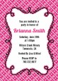 Modern Thatch Fuschia - Personalized Everyday Party Invitations thumbnail