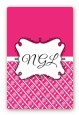 Modern Thatch Fuschia - Personalized Everyday Party Large Rectangle Sticker/Labels thumbnail
