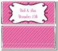Modern Thatch Fuschia - Personalized Everyday Party Candy Bar Wrappers thumbnail