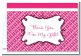 Modern Thatch Fuschia - Personalized Everyday Party Thank You Cards thumbnail