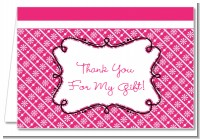 Modern Thatch Fuschia - Personalized Everyday Party Thank You Cards