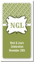 Modern Thatch Green - Personalized Everyday Party Rectangle Sticker/Labels