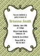 Modern Thatch Green - Personalized Everyday Party Invitations thumbnail
