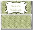 Modern Thatch Green - Personalized Everyday Party Candy Bar Wrappers thumbnail